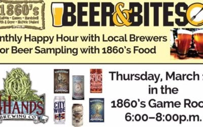 Beer & Bites Night at 1860 Saloon, Game Room & Hardshell Cafe