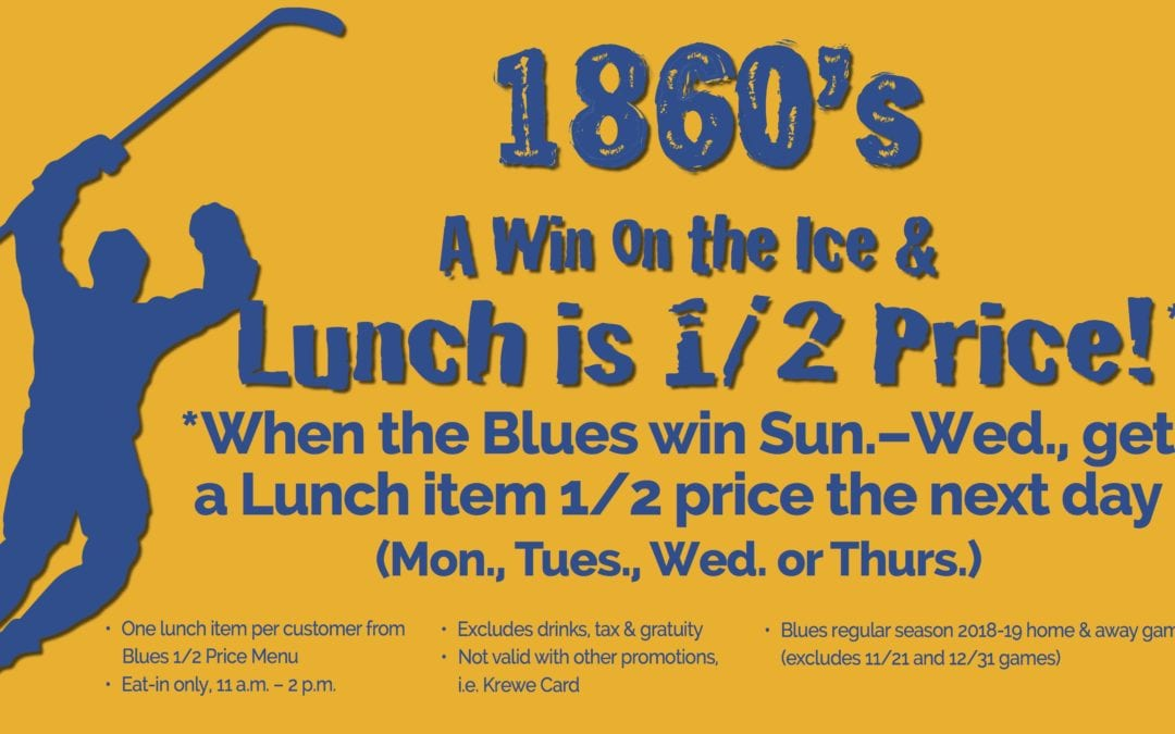 A Win on the Ice & Lunch is 1/2 Price!