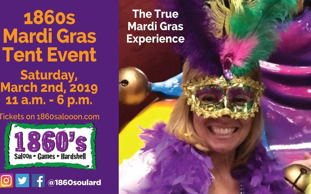 1860s Mardi Gras Tent Event Ticket Information