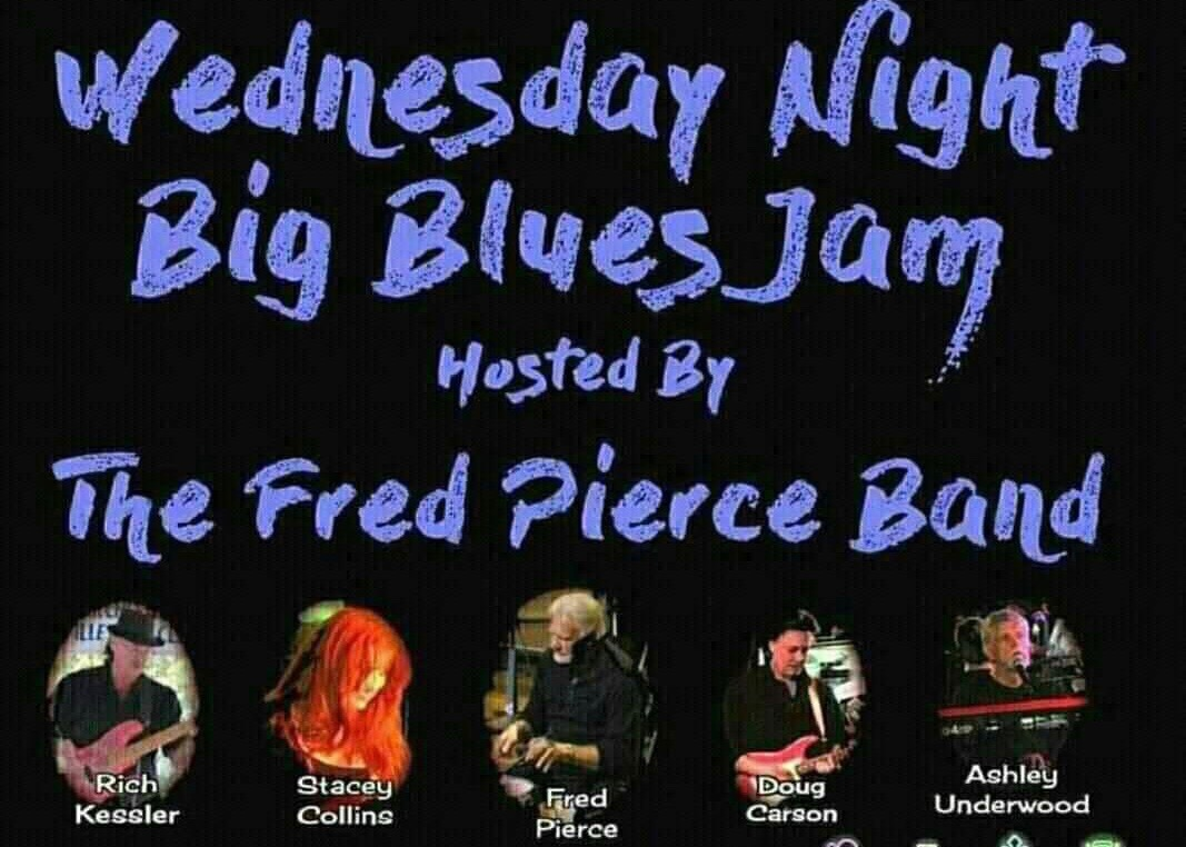 1860s Wed night blues jam hosted by the fred pierce band